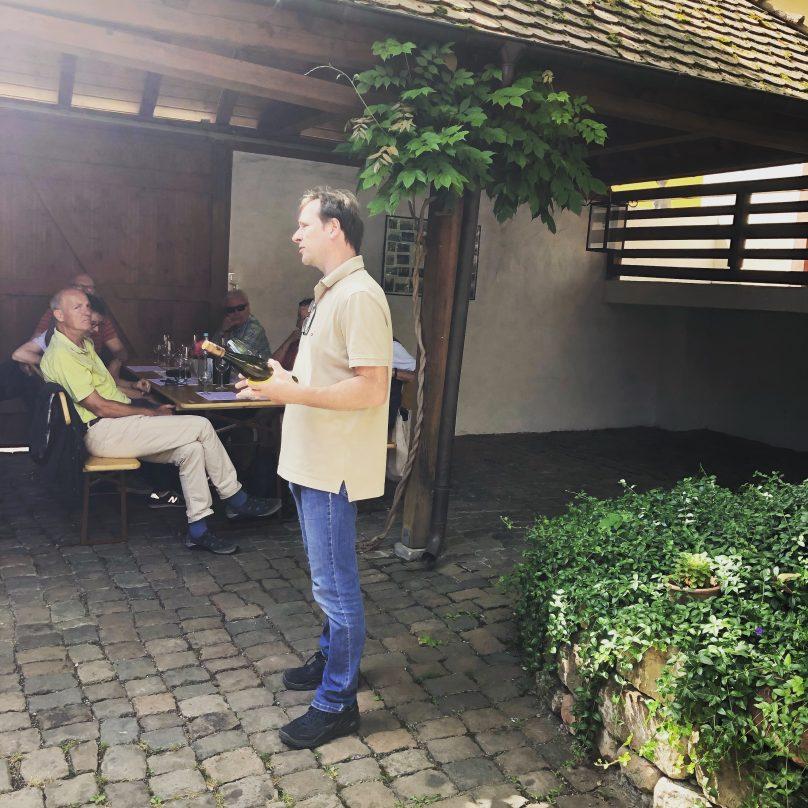 Weinprobe im Weingut Gerd Bernhart
